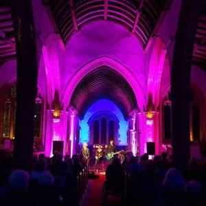 Live music concert in a church