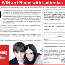 Half page in paper competition (Ladbrokes)